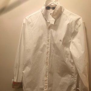 Burberry Tops - Burberry plain button-down shirt